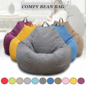 Large Bean Bag Couch Sofa Chair Cover Waterproof Lazy Lounger Cover Adult Kids