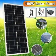 100W Watt Solar Panel Kit for 5/12V Battery Power Charge & Controller Home RV NJ