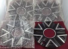 Lexani Wheels Black / Silver Custom Wheel Center Caps Set of 4 # 009-2410-AL