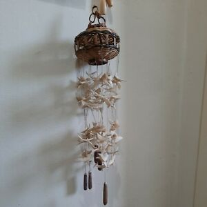 l Seashell Shell Wind Chime Chandelier Hanging Mobile Ornament natural