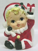 Vintage Christmas Santa Baby Planter Made in Japan 1950s First I've Seen !