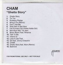 (CZ696) Cham, Ghetto Story - DJ CD