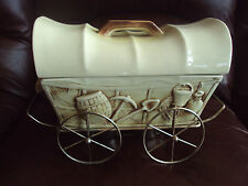 RARE!!! Vintage McCoy El Rancho Chuck Wagon Food Casserole Warmer  HTF!