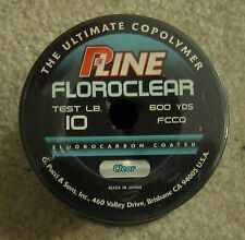 pline clear floroclear fluorocarbon coated line 10lb 600 yd NEW  p line