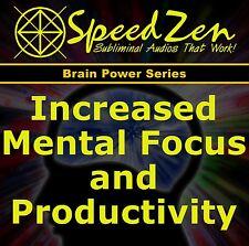 Mental Focus & Productivity Subliminal CD binaural beats hemi sync holosync
