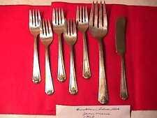 Brooklawn Silverplate Jean Marie Lot- 7 pcs