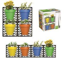 Wall Mount Planter Set Outdoor Indoor set Colored Pots waterproof and fade proof