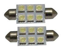 Lot de 2 ampoules 12V C5W à 6 LED SMD pour auto voiture