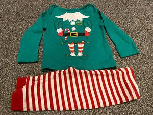George Tiny Elf Baby Age 6-9 Months Christmas Pyjamas