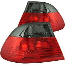 Set of Pair Red Smoke Taillights for 2000-2003 BMW E46 3-Series 2dr Coupe