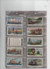 cigarette cards the story of navigation ships 1937 full set