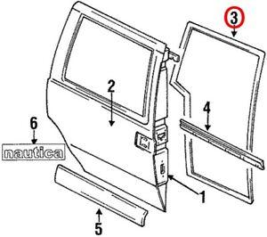 NEW OEM Ford Side Sliding Door Weatherstrip F6XZ1225324AA Mercury Villager 93-98