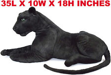 Realistic Black Panther Pet Plush, Kids And Children Stuffed Animal Toy Doll