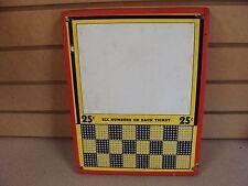 Vintage Unused Punch Board Trade Stimulator Sealed Serial #61759 Box # Pb-17 Kh