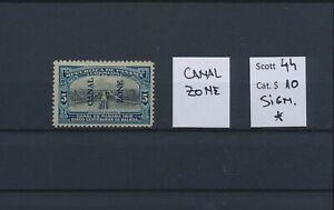 LO45013 Panama canal zone overprint fine lot MH cv 10 EUR