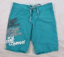 Fox Riding Juniors Board Shorts Surf Sz 1 Green Casual Summer CB90U