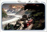 Schweiz BERGBAHN Funiculaire Chamonix Mont-Blanc Bahn Station Alpen Gletscher