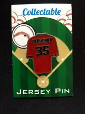 Houston Astros Justin Verlander jersey lapel pin-WS Champion-Collectable