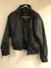 BYRNES & BAKER LEATHER MOTORCYCLE JACKET THINSULATE LINING MENS SIZE M