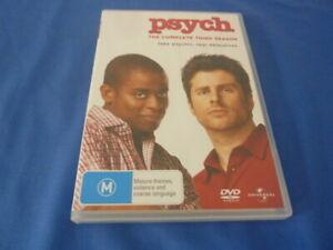 Psych Complete Third Season 3 DVD Region 2, 4, 5