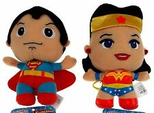 DC Comics Originals Lot 2 Little Mates Superman Wonder Woman Plush Superhero Set
