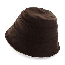 Peach Basket Hat Reversible Brown Khaki One Size Wool Acrylic Blend
