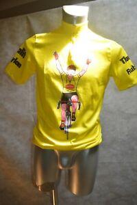 Maglia Sportiva Bicicletta Pubblicità Del Tour de France Henkel / Jesey Vintage