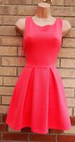 INFLUENCE PINK QUILTED STRIPE SKATER A LINE FLIPPY PROM PARTY RARE DRESS S M