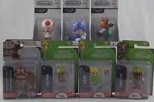 World Of Nintendo Lot Of 7 Figures 2 Inch Jakks Link Toad Tetra Deku Kong Tom