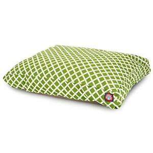 Sage Bamboo Extra Large Rectangle Indoor Outdoor Pet Dog Bed With Removable W...