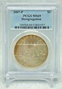 2007 P Desegregation - Little Rock HS - PCGS MS69 Silver Dollar