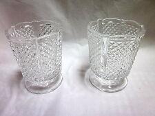 EAPG 6 OZ Paneled English Hobnail Pattern Drinking/Wine Glasses (2)