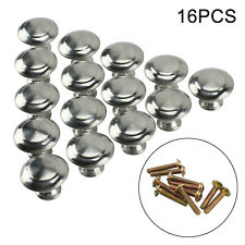 16PC Brushed Satin Door Handles Knobs Chrome Drawer Wardrobe Cupboard Cabinet