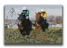 TIMMY MURPHY HAND SIGNED 12X8 PHOTO - HORSE RACING AUTOGRAPH.