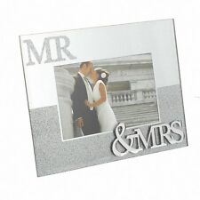 Juliana Mirror Frame With Glitter Mr and Mrs 6x4