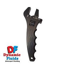 Billet Aluminium Wrench Spanner AN3 AN4 AN6 AN8 AN10 AN12 (Black)