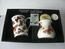 Butterfly Mug & oil burner gift set -Gift box mug, oil burner Yankee melt t.lite