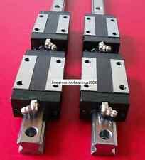 20-1500mm 2x Linear Guide Rail profile 4x Pillow block carriage bearing blocks