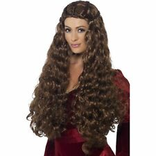 Thrones Medieval Princess Wig Renaissance Women Ladies Fancy Dress Accessory