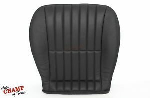 2000 2001 Chevy Camaro Convertible -Driver Side Bottom Leather Seat Cover Black
