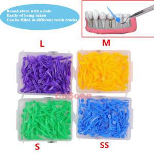 FDA CE 400pcs Dental Plastic Poly Wedges With Dental Holes 4Colors 4 Sizes / Set