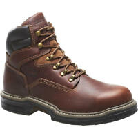 """Wolverine Mens Raider Steel Toe EH 6"""" Work Boot Brown slip resistant MultiShox"""