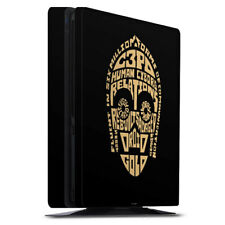 Sony Playstation 4 PS4 Slim Folie Aufkleber Skin - C3PO Typo
