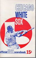 1962 MLB Baseball program, Los Angeles Angels @ Chicago White Sox, unscored ~ VG