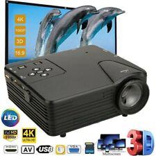 1080P Portable Mini LED Projector 4K 3D HD Video Home Theater Cinema Multimedia