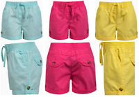 Kids Girls Summer Shorts Adjustable Elastic Waist Draws String Cotton,3 to 13yrs