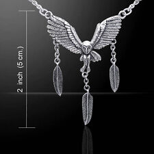 Ted Andrews Barn Owl .925 Sterling Silver Necklace by Peter Stone