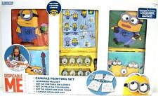 Despicable Me Canvas Painting Set Kids Paints Sitcker Sheets Glitter Brushes NEW