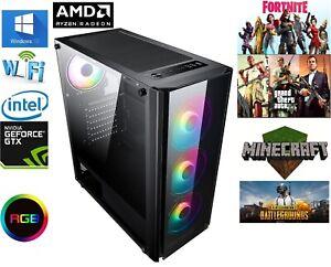 Gaming Computer PC AMD Ryzen 5 3600, 16GB RAM, 480GB SSD, 1tb HDD GTX 4gb 1650 v