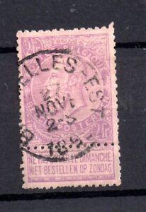 Belgium 1893 5F mauve fine used Cat Val £90 #91 WS20883